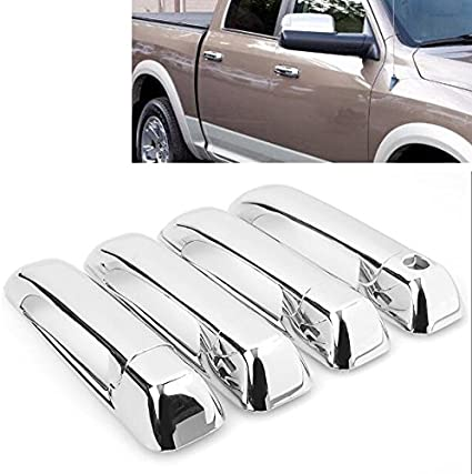 for Dodge Jeep Outside Exterior Door Handle Passenger Right Wo Keyhole Chrome