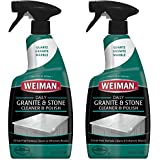 Weiman Granite Cleaner and Polish - 24 Ounce [2 Pack] for Granite Marble Soapstone Quartz Quartzite Slate Limestone Corian Laminate Tile Countertop and More