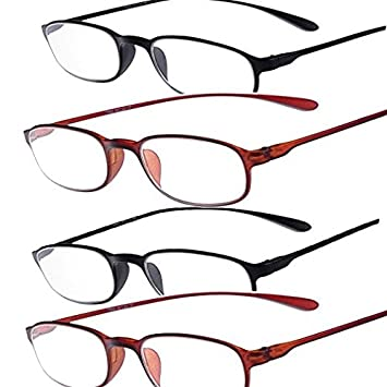 de996cf2d8b2 Image Unavailable. Image not available for. Color  TR90 Reading Glasses - 4  Packs for Men and Women ...