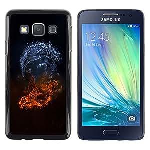 Caucho caso de Shell duro de la cubierta de accesorios de protección BY RAYDREAMMM - Samsung Galaxy A3 SM-A300 - Abstract Monsters