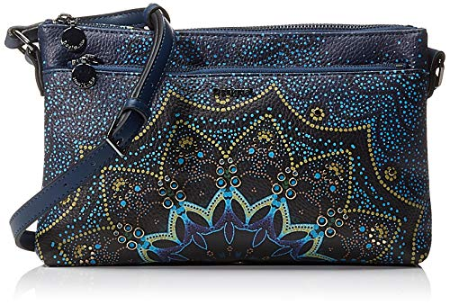 Desigual Bag Tekila Sunrise Durban, Bolso Boho para Mujer, Azul (Petrucho), 17.5 x 4 cm (B x H x T)