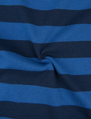 Leveret Kids Striped Baby Boys Footed Pajamas Sleeper 100% Cotton (Size 18-24 Months, Blue & Navy) by Leveret (Image #1)