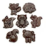 Polycarbonate Mold for Chocolate (Cute Woodland Creatures Set)