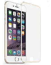 MuStone Screen Protectors voor iPhone 6 6s, 3D Screen Protector Volledige dekking Gehard glas Screen Protector Case Vriendelijke Metalen Edge naar Edge vervanging voor iPhone 6 6s Film 4.7'', Metaal Goud