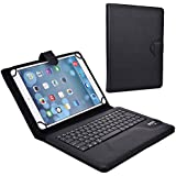 Cooper Cases (TM) Infinite Executive HP Omni 10 / HP 10 Plus / Pavilion x2 10 inch Bluetooth Keyboard Folio in Black (Pleather Cover, Built-in Stand, QWERTY Keyboard, Rechargeable Battery)