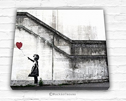 Rockin Canvas There Is Always Hope Balloon Girl By Banksy Canvas Print, Canvas Wrap, Street Style art