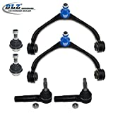 DLZ 6 Pcs Front Suspension Kit-2 Upper Control Arm Assembly 2 Lower Ball Joint 2 Outer Tie Rod End Compatible with 2005 2006 2007 2008 2009 2010 Dodge Dakota 2006 2007 2008 2009 Mitsubishi Raider
