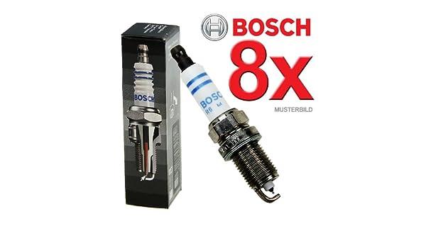 Bosch 8x Original BOSCH Super Plus FGR7DQP+ SÉRIE - Bujía para motor de barco: Amazon.es: Coche y moto