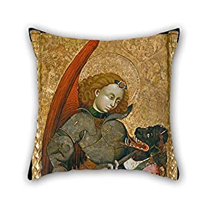 TonyLegner 16 X 16 Inches / 40 by 40 cm Oil Painting Blasco De Gra???n - Saint Michael The Archangel Throw Pillow Covers Double Sides is Fit for Dance Room Teens Study Room Floor Car Wedding