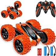 Remote Control car,2.4GHz Electric Race Stunt Car,Double Sided 360° Rolling Rotating Rotation, LED Headlights