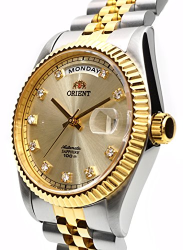 "ORIENT ""President"" Classic Automatic Sapphire Watch Two Tone Gold EV0J002C"