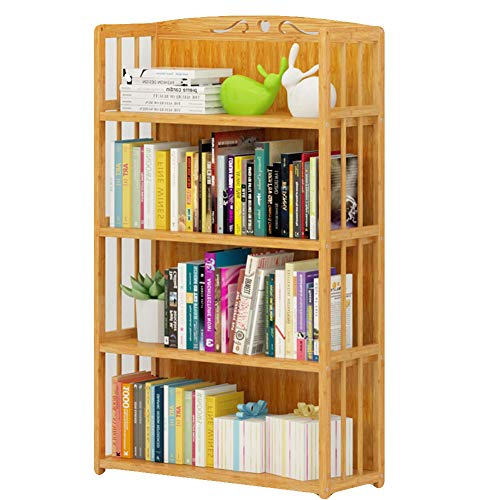 - KELE Height Adjustable Simple Bookshelf, All Bamboo Environmental Floor Modern Solid Wood Bookcase Multi-Layer Storage Rack Children's Book Shelves-I 80X26X110cm