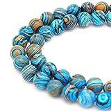 JARTC Synthetic Colour Malachite Beads Beautiful Fashion...