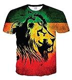Chiclook Cool Unisex African Reggae 3D Print Hip Hop Punk Short Sleeve T Shirts
