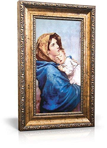 St Joseph Communications Madonna of The Streets - Framed Canvas 6 x 11 (Including Frame: 9.5 x - Canvas Street Framed