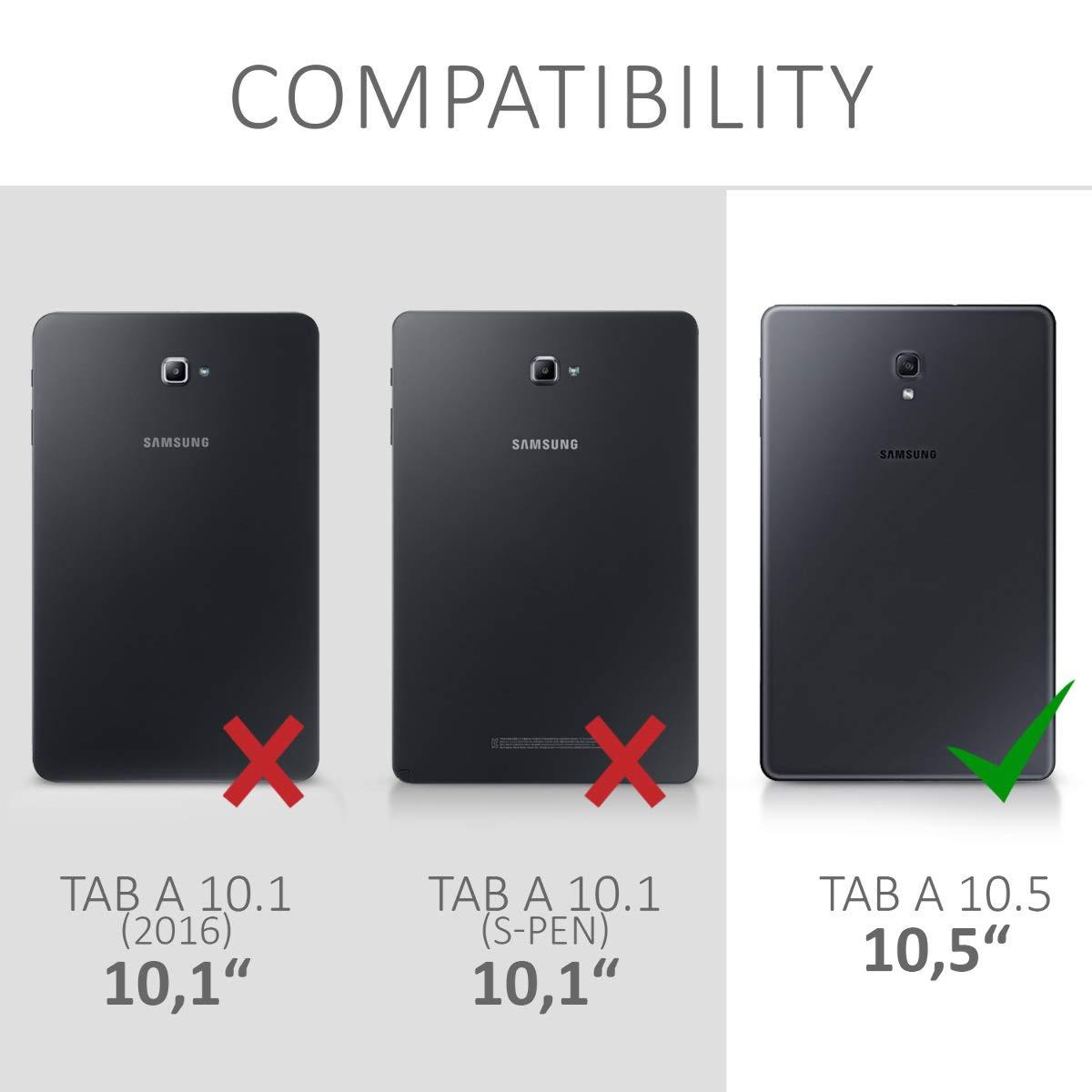 Carcasa Trasera para Tablet de Silicona TPU Cover en Azul//Verde//Transparente kwmobile Funda para Samsung Galaxy Tab A 10.5
