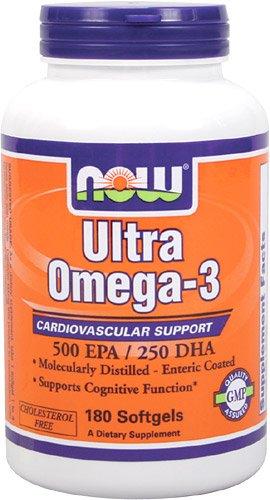 Now Foods Ultra Oméga 3, huile de poisson Soft-gels, 180-Comte