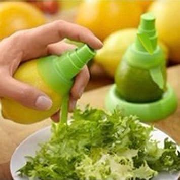 2pcs frutos cítricos limón naranja Exprimidor Spray ensalada verde niebla color verde y extractor: Amazon.es: Hogar