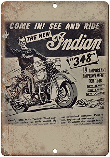 Flyer Motor - 1948 Indian Motorcycle Flyer Ad Man Cave 10