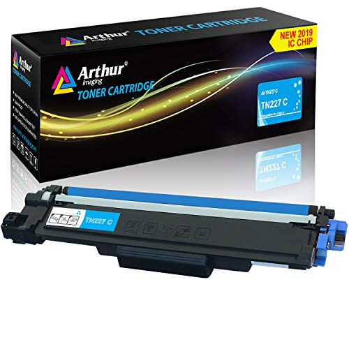 Arthur Imaging with CHIP Compatible Toner Cartridge Replacement Brother TN227 (Cyan, 1 Pack) ()