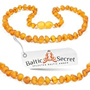 Premium Amber Teething Necklace/Extra Safe/50% Richer and Higher in Value/Sizes from 11.6 IN to 14.7 IN/Reduces Teething Symptoms Naturally/HNY.U-BRQ/31.5CM/12.4IN