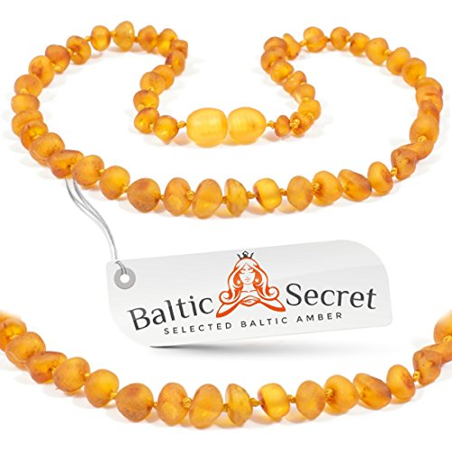 Premium Amber Teething Necklace Honey Raw Amber Beads / 50%