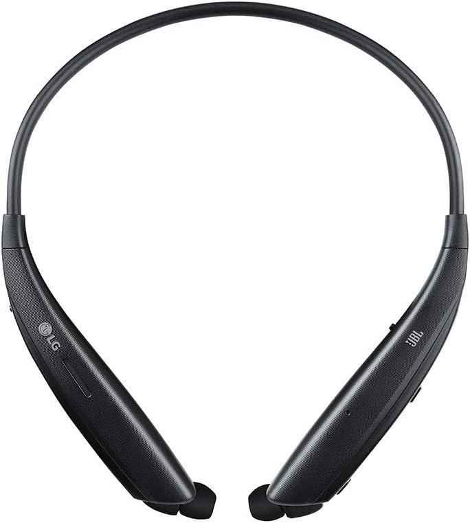 LG Tone HBS-835S - Auriculares con Altavoz Externo (Sonido JBL, Bluetooth 5.0, Doble micrófono MEMS, Auriculares retráctiles, Tone & Talk, Advanced Quad Layer) Color Negro