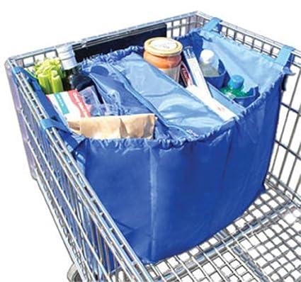 Grande reutilizable Eco-Friendly Bolsa de compras para el supermercado Trolley Con aislado Compartimiento para Alimentos congelados