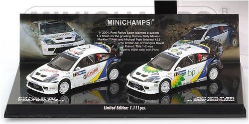 1/43 フォードフォーカス RS WRC メキシコラリー 1位マルティン Castrol #7(ホワイト×ブルー)&2位デュバル bp #8(ホワイト×ブルー) 2台セット 402048378