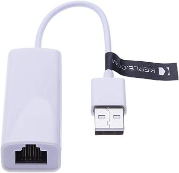Adaptador Ethernet de red USB a RJ45 Lan, convertidor con cable compatible con Nintendo Switch, Wii,