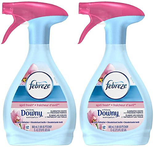 Febreze April Fresh Fabric Refresher with Downy, 27 Ounces, (Pack of 2)