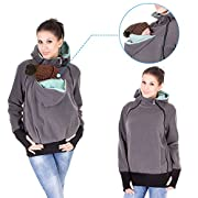 NeuFashion Exclusive Double Thick Real Baby Carrier Hoodie Jacket Coat