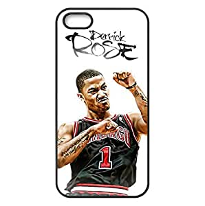 iPhone 5/5s TPU Case with Chicago Bulls Derrick Rose Image Background Design-by Allthingsbasketball by runtopwell