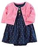 Carter's Baby Girls Dress Set, Pink/Navy Polka, NB