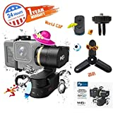 FeiyuTech WG2 Upgraded 3-Axis Wearable Gimbal for Action Camera GoPro HERO 6 5 4 Session, Yi 4K, AEE, SJCam and Similar Dimensions, IP67 Waterproof, Come with Carrying Case Smart Remote and Tripod