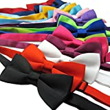 BOWKITE Adjustable Boys Bow Tie Solid Pre Tied for