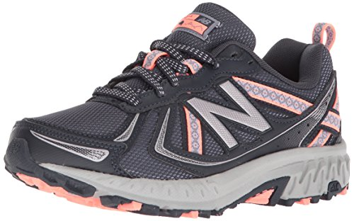 New Balance Women's WT410v5 Cushioning Trail Running Shoe, Thunder, 9 D US