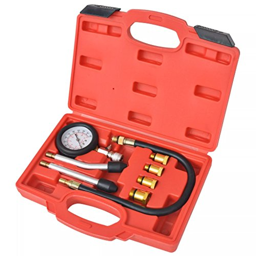 Luckyfu 8 Pcs Petrol Engine Compressor Test Kit Vehicle Tool Box Vehicle Repair Accessories: