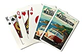 Cruise Washington - Camper Van Coastal Drive Cruise (Playing Card Deck - 52 Card Poker Size with Jokers)