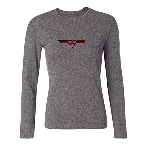 XIULUAN Women's Van Halen Band Hard Rock Logo Long Sleeve T-shirt Size S (Van Halen Womens Top)