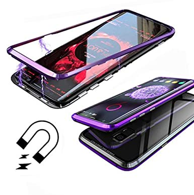 save off 2e1ed 0b324 ZHXMALL Samsung Galaxy S9 Case, [Magnetic Adsorption Metal Armor ...