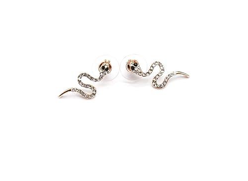 boucles d'oreilles pendantes serpent