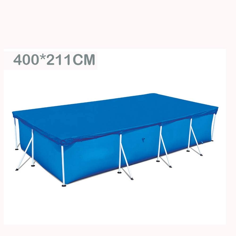 Changli Rectangular Swimming Pools Cover for Prevent Dust Polyester Woven Fabric Thickening Dustproof Tarpaulin Cloth for Home Garden Yard Pools 200x150CM