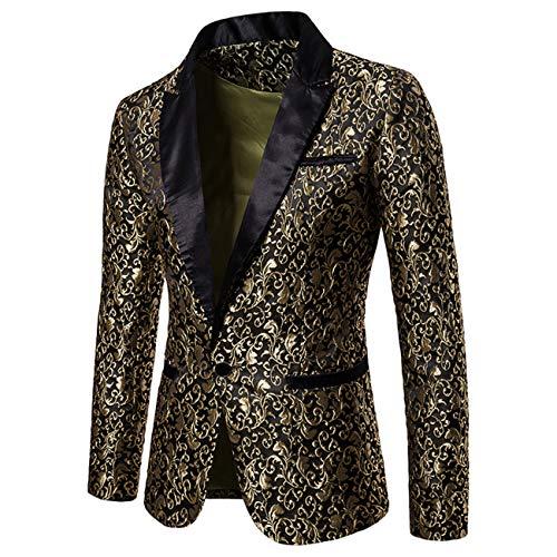 7f3489a2aae1 Jaune2 Luxe Slim Pour Costume Manteaux Blazer Smoking Élégant Fit De Print  Floral Homme Habillé Doré wxSSqYfE6