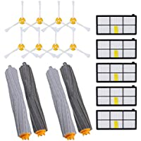 KEEPOW Replacement Roomba Parts for iRobot Roomba 980 960 900 890 880 870 860 800 Robotic Vacuum Cleaner (5pcs Hepa Filters, 8pcs Side Brushes, 2 sets Tangle-Free Debris Extractor) (2+5+8)