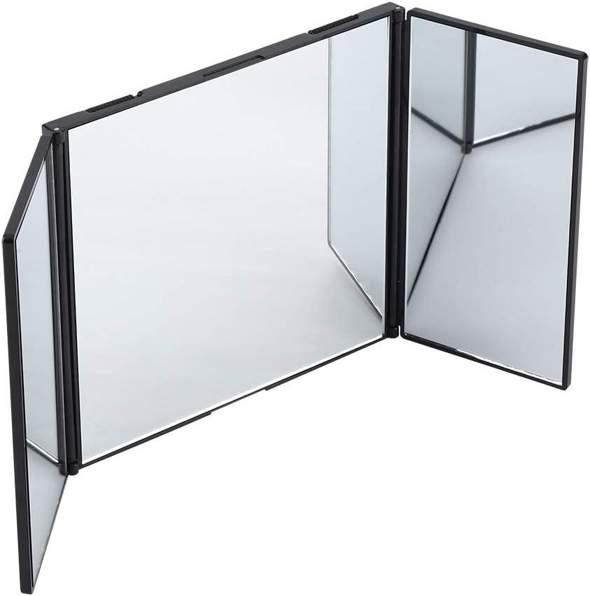Rockyin Maquillaje Plegable Espejo del automóvil Interior del Coche Parasol montado fácil Accesorio Decorativo