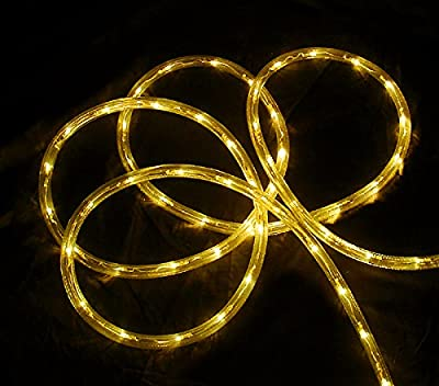 18' Yellow LED Indoor/Outdoor Christmas Rope Lights