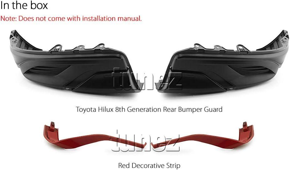 Tunez Coque Bumper Guard Rev/êtement arri/ère Noir mat pour Hilux Gun1 TRD Camion de voiture