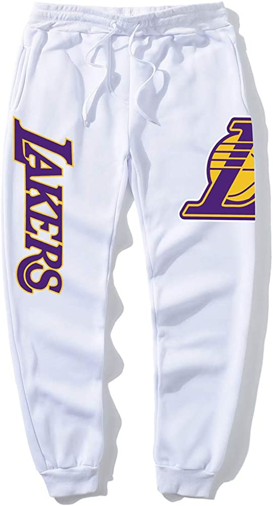 GFENG Unisex Sweatpants Basketball Training Pants Casual Comfortable Lakers Running Pants Jogging Bottoms