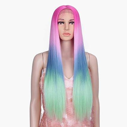 Pelucas Mujer peluca Pelucas delanteras de encaje sintético ...